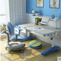 西昊儿童学习桌椅可升降 儿童书桌写字桌椅套装 多功能创意书架 多功能创意书架 四重支撑学习椅