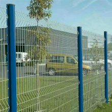 绿色铁丝网围栏 小区防护栅 厂区折弯护栏网