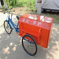 沧州绿美供应人力保洁三轮车 铁质环卫三轮车 24-26型支持定做