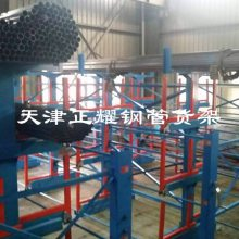 柳州管材货架伸缩悬臂式结构 占地小 存取方便 存量高