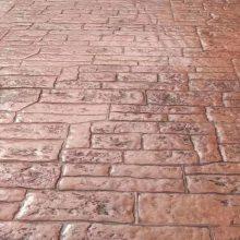 桓石 彩色混凝土压花技术艺术压模地坪施工方法以及工程案例