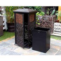 户外景观方形垃圾桶 商铺园林铸铝垃圾箱 绿森源品牌户外