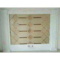 徐州专业定制 高品质夹丝电视背景墙 茶镀膜异形磨边镜