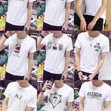 韩版男士T恤 外贸库存品牌尾货 便宜夏装男装T恤 时尚T恤 清仓特价批发