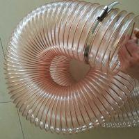 耐磨钢丝伸缩管生产厂家pu钢丝软管规格25mm-550mm