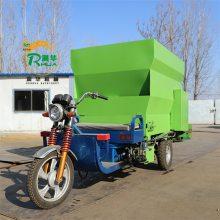 搅拌后的物料运输卸料车 自动下料速度快 养殖新型撒料车