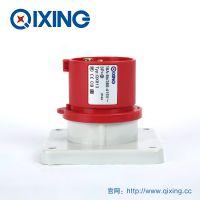 QIXING启星QX813 4 芯 16A IP44高端型工业暗装插头 3C认证