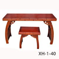 海兴老榆木琴桌琴凳家具定做批发