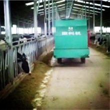 肉牛场自动喂料车 育肥牛饲料撒料车 山东邦腾电动撒料车