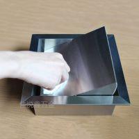北京不锈钢304嵌入式垃圾桶 镶嵌台面垃圾桶 高档方形收纳桶 厂家直销