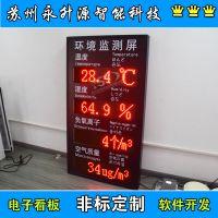 苏州永升源厂家定制 工地噪音扬尘监测显示屏 实时监测温度湿度 PM2.5PM10显示看板 负氧离子采