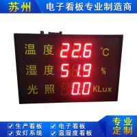工厂农业大棚高精度温湿度光照LED显示屏环境监测悬挂式电子看板