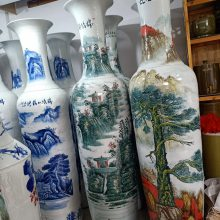 景德镇陶瓷大花瓶 中国红大花瓶批发 居家办公摆设装饰 1.6手工仿古瓷器花瓶价格