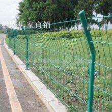 道路护栏网 防护网围墙 浸塑铁丝网栏