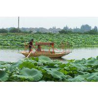 仿古5米手划船 殿宝牌观光旅游船 景区旅游休闲木船哪里有生产制造厂家