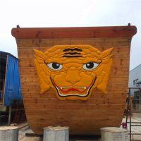 殿宝木船制造厂家直销大型景观海盗船 广场亮化装饰木船 郑和宝船