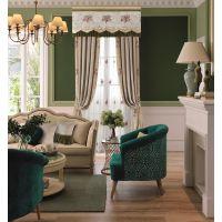 成都客厅窗帘|青羊别墅餐厅窗帘|7克拉透光、素雅