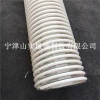 山实厂家定制25mm彩色 磨损性物料传输管 PU伸缩软管 tpu加厚软管 聚氨酯通风排气管