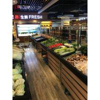 无锡超市水果货架_果蔬架不锈钢