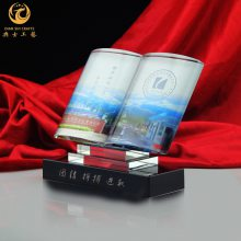 天津高校活动礼品,毕业典礼纪念品,水晶书本模型摆件,定制学术会议礼品