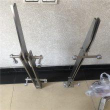 耀恒 供应玻璃楼梯栏杆 拉丝不锈钢楼梯扶手立柱不锈钢立柱