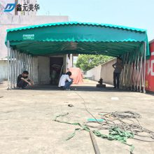 绍兴新昌县专业定制农业园推拉篷 伸缩雨棚布 搭建活动雨棚 优质材质
