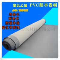 企标带布1.2mm PVC防水卷材加筋耐根穿刺PVC防水材料 内增强PVC防水卷材