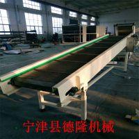 德隆非标定做不锈钢冲孔链板输送机水平传送带自动化链板输送机