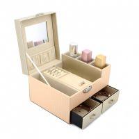 东莞立葳专业定制化妆品套盒简约时尚高端化妆品皮盒包装批发