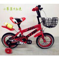 供应3周岁以上运动款12寸14寸16寸18寸荧光黄大红色海蓝色荧光绿 一星娃娃儿童自行车-小苹果