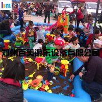 山东聊城儿童充气沙滩池,彩虹门双层组合海洋球池 构建幸福童年的翘板