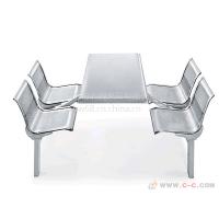 不锈钢排椅价格参数-自制不锈钢餐桌图片-深圳不锈钢连体餐桌椅