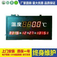 温度显示屏/万年历显示屏/温度时间看板