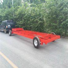 5000kg物流搬运设备专用超低牵引平板拖车厂家直销平板拖车 定制半挂式运输