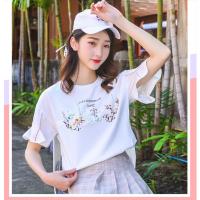 武汉女装批发哪里便宜精梳棉女装10元以的夏季T恤时尚新款地摊货源新款甩卖场