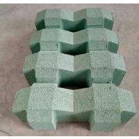 郑州砖厂供应停车场专用绿色植草砖 混凝土草坪砖