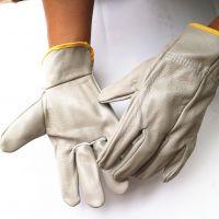 直销头层皮焊工手套 短皮司机皮革保暖耐磨隔热家私皮手套