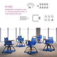 供应批发众晟家具ZS-WINNER塑料多功能可360度旋转培训学生椅