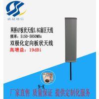 劲爆5.8G19dbi基板状天线高增益双极化定向扇形板状天线网桥AP