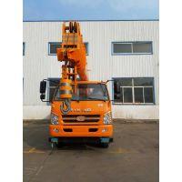 12吨唐骏汽车吊参数 12吨吊车臂长7.5米6节自动回臂跨距6.5m