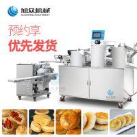 江苏早餐饼香酥脆葱油酥饼机 旭众新款商用多功能自动擀面酥饼机