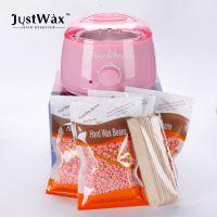 JustWax跨境专供脱毛蜜蜡豆套装美容院电商专用巴西热蜡豆300g100