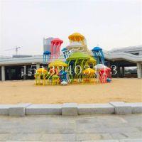 大型海洋生物卡通水母造型不锈钢雕塑 沙滩广场观赏工艺品摆件