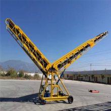 兴亚 湖南铝型材带式运输机 小型短距离输送机 防滑沙土石子橡胶输送带