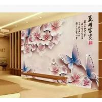 集成墙板5D浮雕背景墙竹木纤维3d立体电视背景墙 快装吊顶墙板