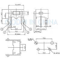 SOFNG TS-1101V 外形尺寸:3.5mm*6.0mm*4.3mm