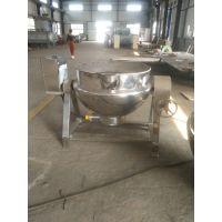 刮板式夹层锅 电加热蒸煮锅 立式 可倾斜式 食品机械生产厂家山东 JY300L