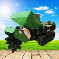 履带撒肥回填开沟机 富兴多档位可原地转向除草机 时风柴油动力施肥机厂家