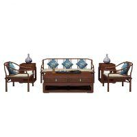紫珍轩定制生产客厅卧室红木明式古典家居罗汉床 实木沙发家具