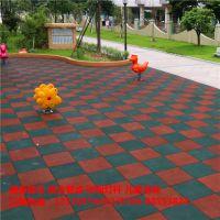 四川游乐场专用地垫 安全地板柏克供应 防滑橡胶砖地垫制造